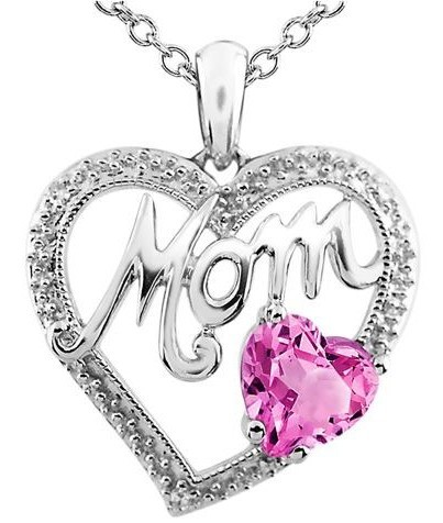 Mom-Pink-stone-Diamond-Pendant