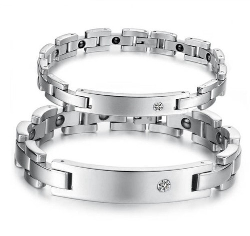 2013-Jewelry-Fashion-Men-s-Women-s-Couples-Bracelets-Bangles-Stainless-Steel-Bracelet-Cubic-Zirconia-Tag