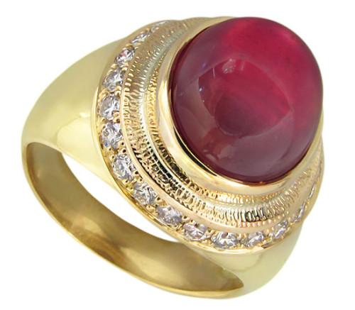 944671b | ruby ring Кольцо с Рубином