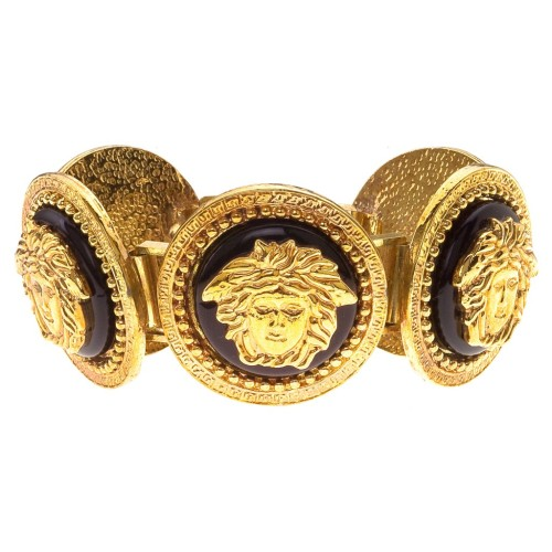 GIANNI-VERSACE-MASSIVE-BLACK-AND-GOLD-BRACELET-WITH-5-MEDUSAS-1-1024x1024