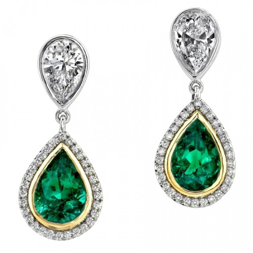 HE2PS-EmeraldDiamondEarrings