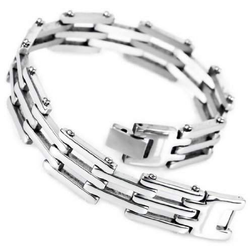 JBlue-Jewelry-mens-Silver-Stainless-Steel-Bracelet-Cuff-Link-Hand-Chain-with-Gift-Bag