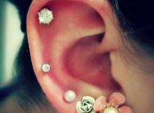 hot cartilage piercing earrings-f45487