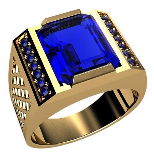 кольцо золото и сапфир