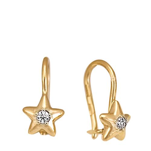 Золотые серьги для девочки 1 год.