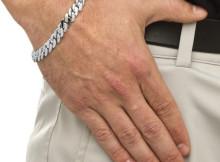 мужской браслет бисмарк из серебра